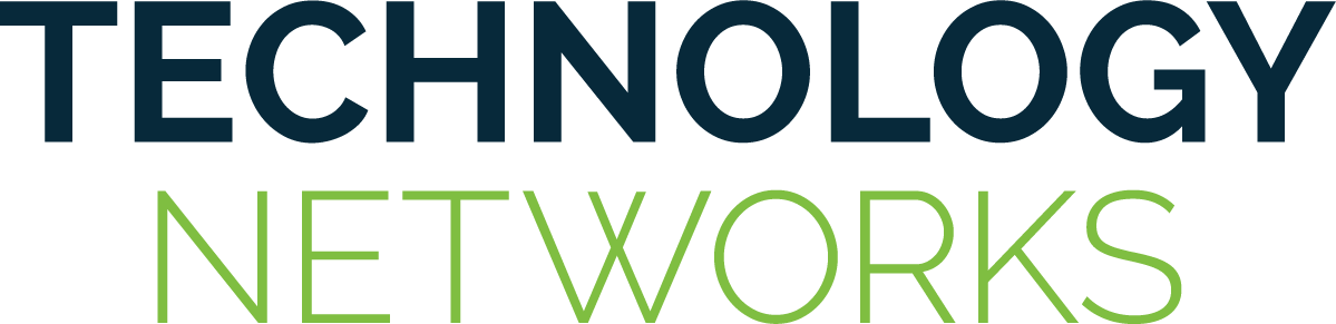 Technology Networks logo - blue and green - pantone1