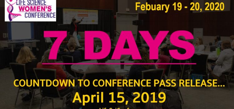 Count-down to conference pass release: 7 Days